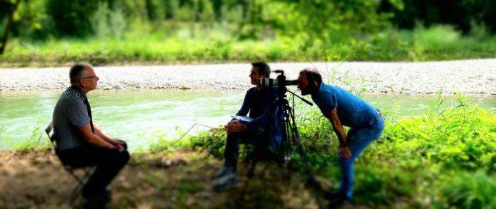 Premières interviews sur la Leysse pour les films de sensibilisation !